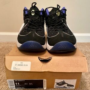 "Nike Air Penny II ""Black Royal"" - Sz. 11"